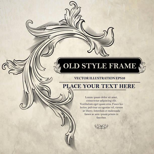 ilustraciones, imágenes clip art, dibujos animados e iconos de stock de vintage marco.  ilustración vectorial - marcos grunge