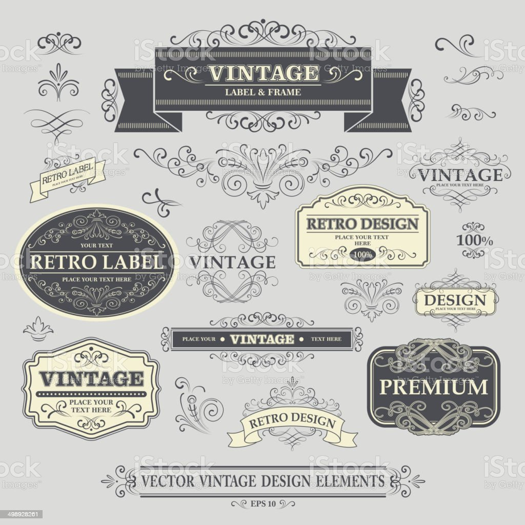 Vintage Frame. Vector Illustration vector art illustration
