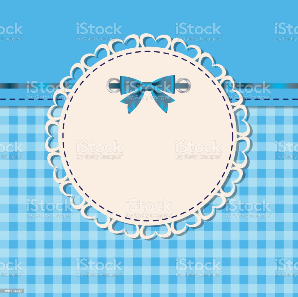 vintage frame with bow vector illustration royalty-free vintage frame with bow vector illustration stock vector art & more images of abstract