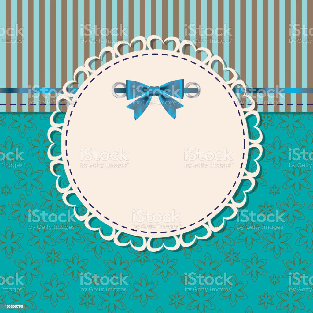 vintage frame with bow vector illustration. royalty-free stock vector art