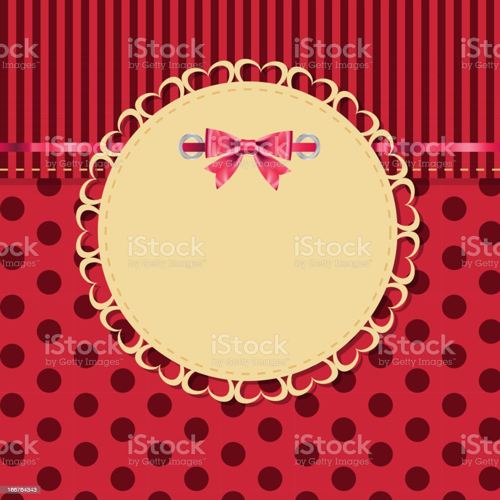 vintage frame with bow vector illustration royalty-free stock vector art