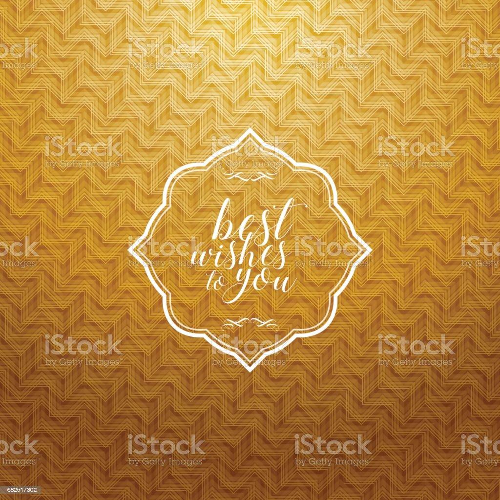 Vintagerahmen Mit Gold Farbige Muster Hintergrund Stock Vektor Art ...
