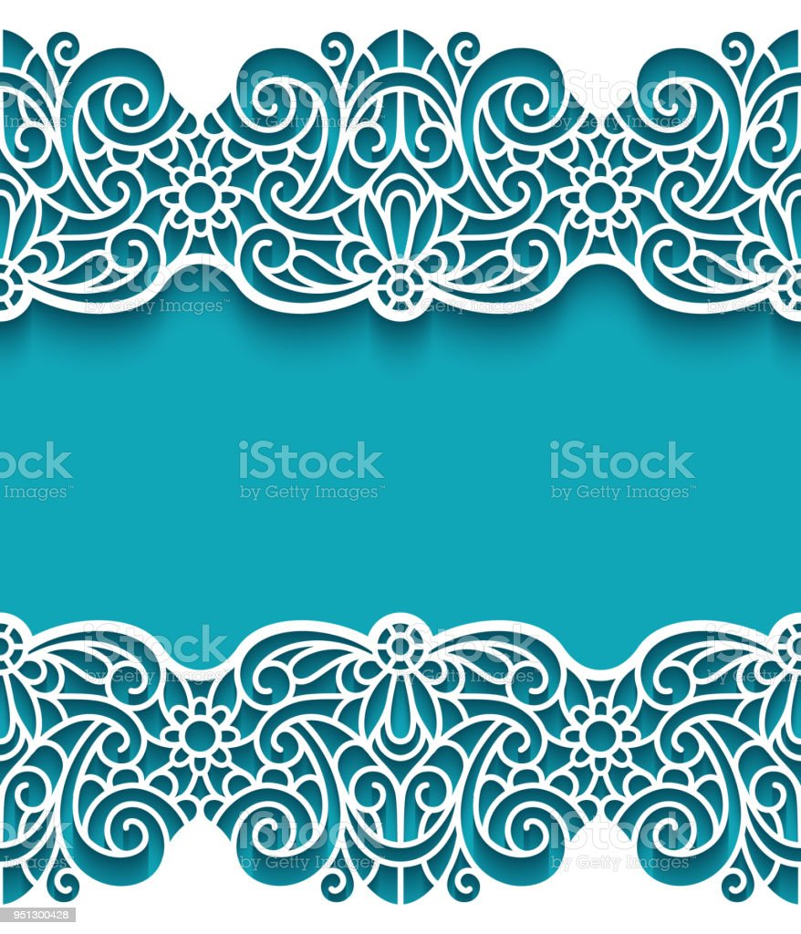 royalty free scallop border clip art vector images illustrations rh istockphoto com lace trim border vector lace trim border vector
