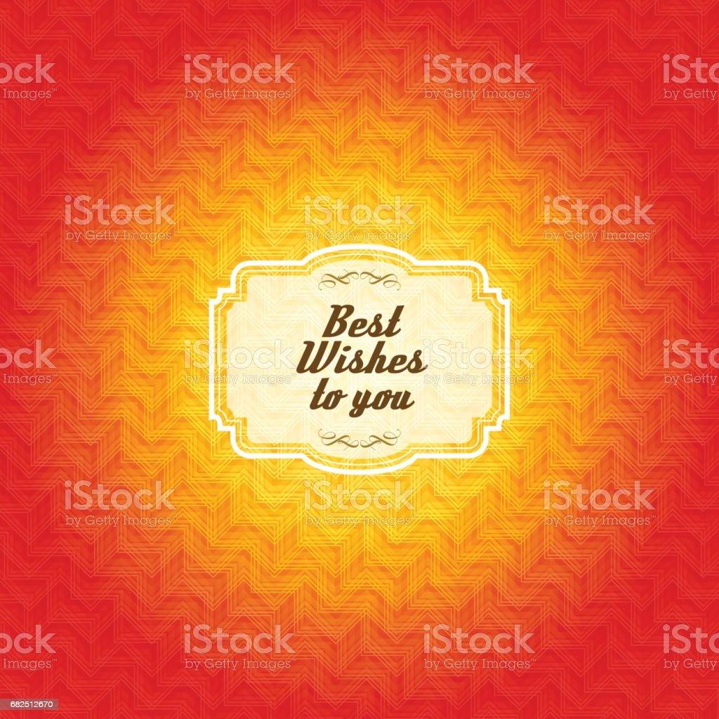 Vintage frame with orange color pattern background royalty-free vintage frame with orange color pattern background stock vector art & more images of antique
