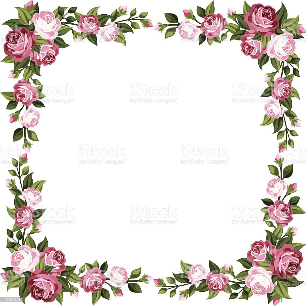 royalty free roses border clip art vector images illustrations rh istockphoto com red rose border clip art rose vine border clip art