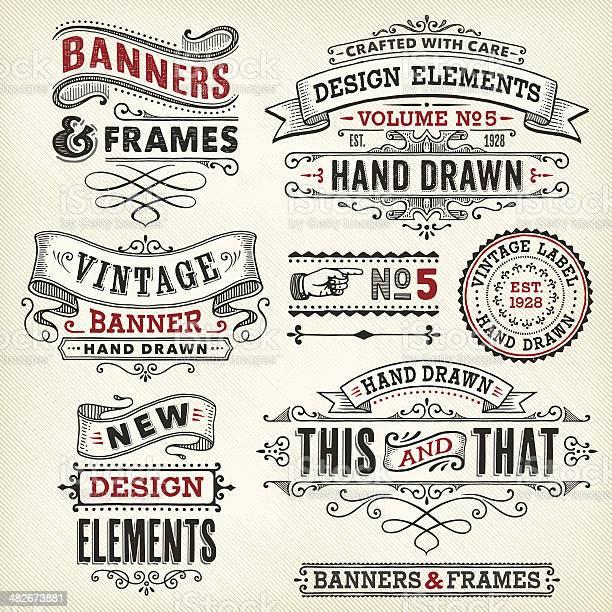 Vintage frames and banners hand drawn vector id482673881?b=1&k=6&m=482673881&s=612x612&h=mmrztqnxanpkvmcxumdwthuh7by6zxdhrjsa6kto8li=