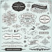 Set of ornate badges,frames,banners and design elements..All elements are separate.File is grouped and layered. Hi-res jpeg included.More works like this linked bellow.