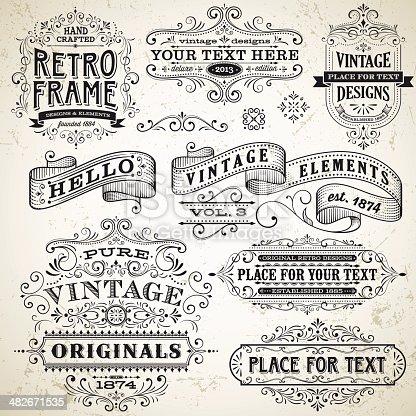 istock Vintage Frames and Design Elements 482671535