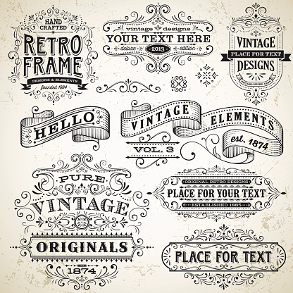Vintage Frames and Design Elements