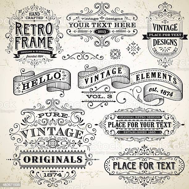 Vintage frames and design elements vector id482671535?b=1&k=6&m=482671535&s=612x612&h=piixoced3firp2hfnqwihqhwwjar348dfvygzleiafs=