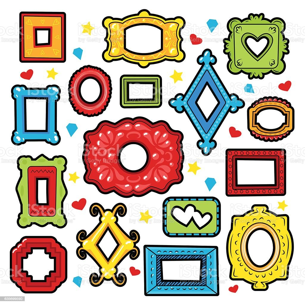 Vintage Frames Decorative Elements for Scrapbook royalty-free vintage frames decorative elements for scrapbook stock vector art & more images of abstract