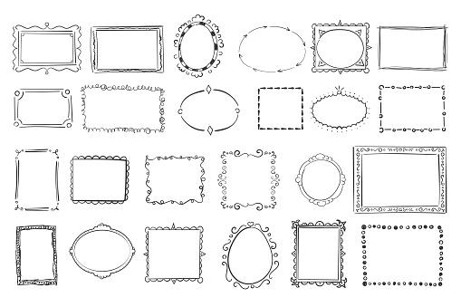 Vintage frames doodle.