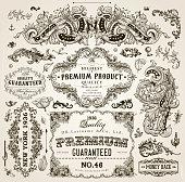 Vintage Frames, Scroll Elements and Floral Ornaments
