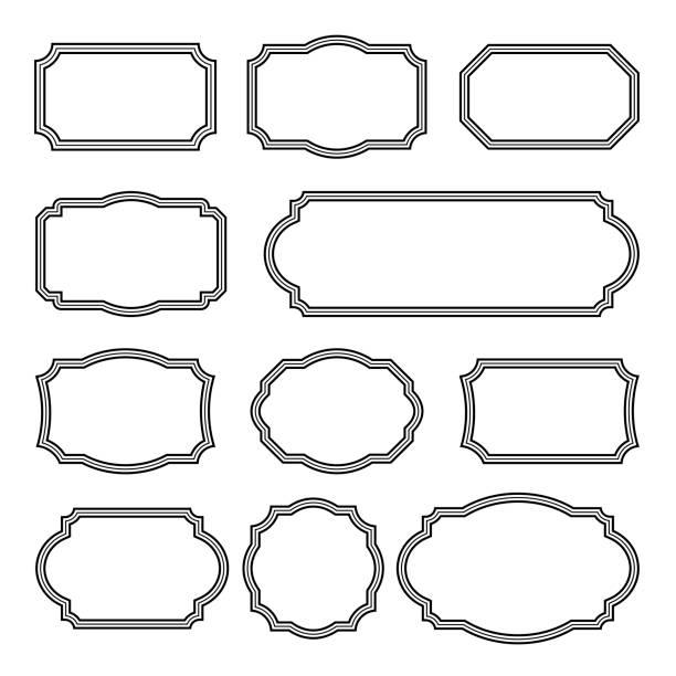Vintage Rahmen Set - Vintage Rahmen Vektor Clipart Bundle – Vektorgrafik
