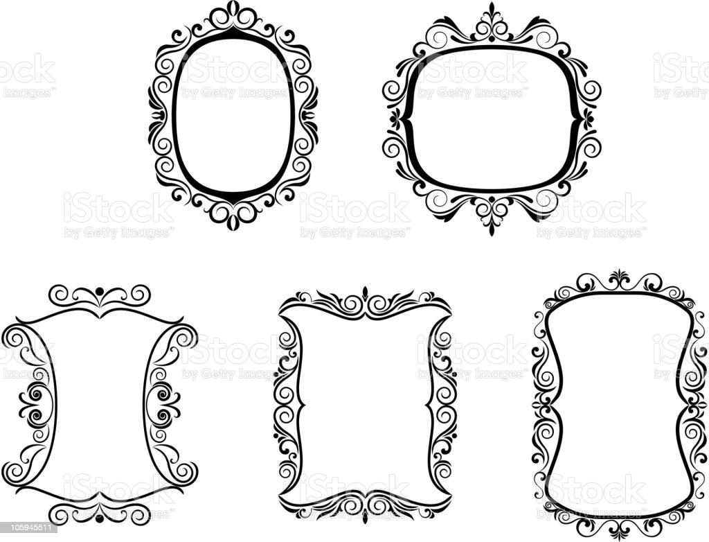 Vintage frames royalty-free stock vector art