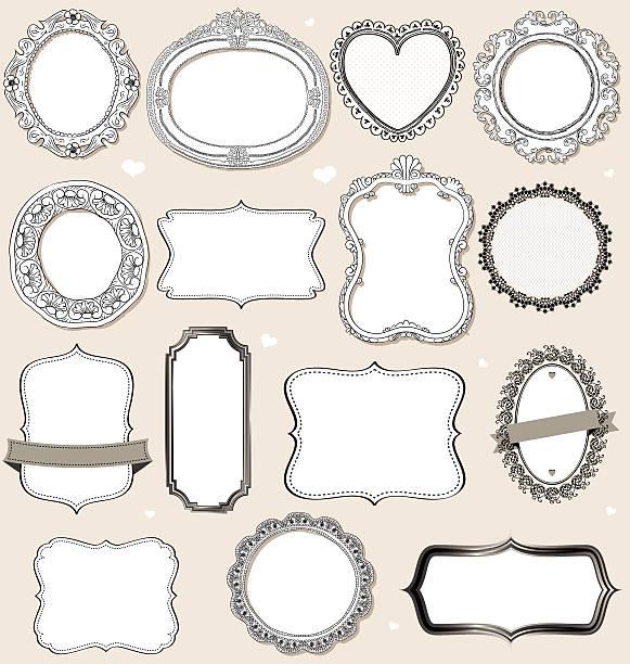 vintage frames. vector art illustration