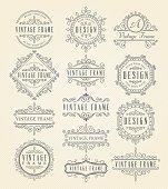 Vector illustration of the vintage frames.
