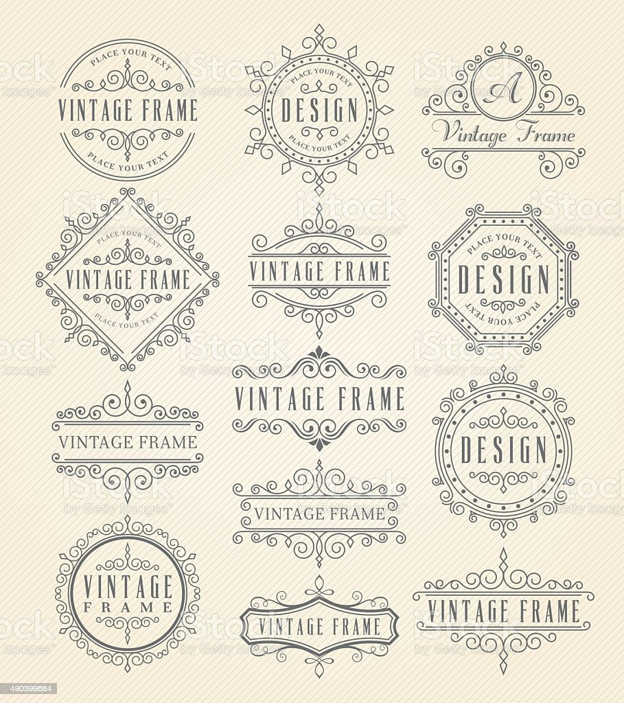 Vintage Frames vector art illustration