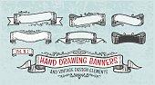 hand-drawing vintage frames
