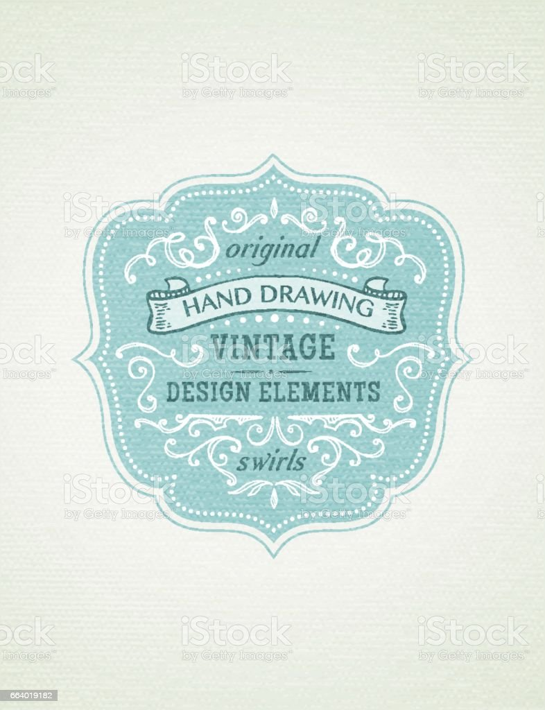 vintage frames vector art illustration