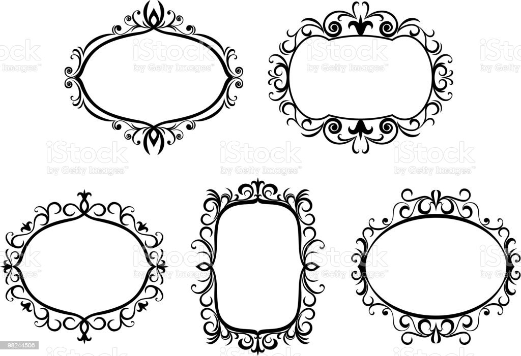 Vintage frames royalty-free vintage frames stock vector art & more images of color image