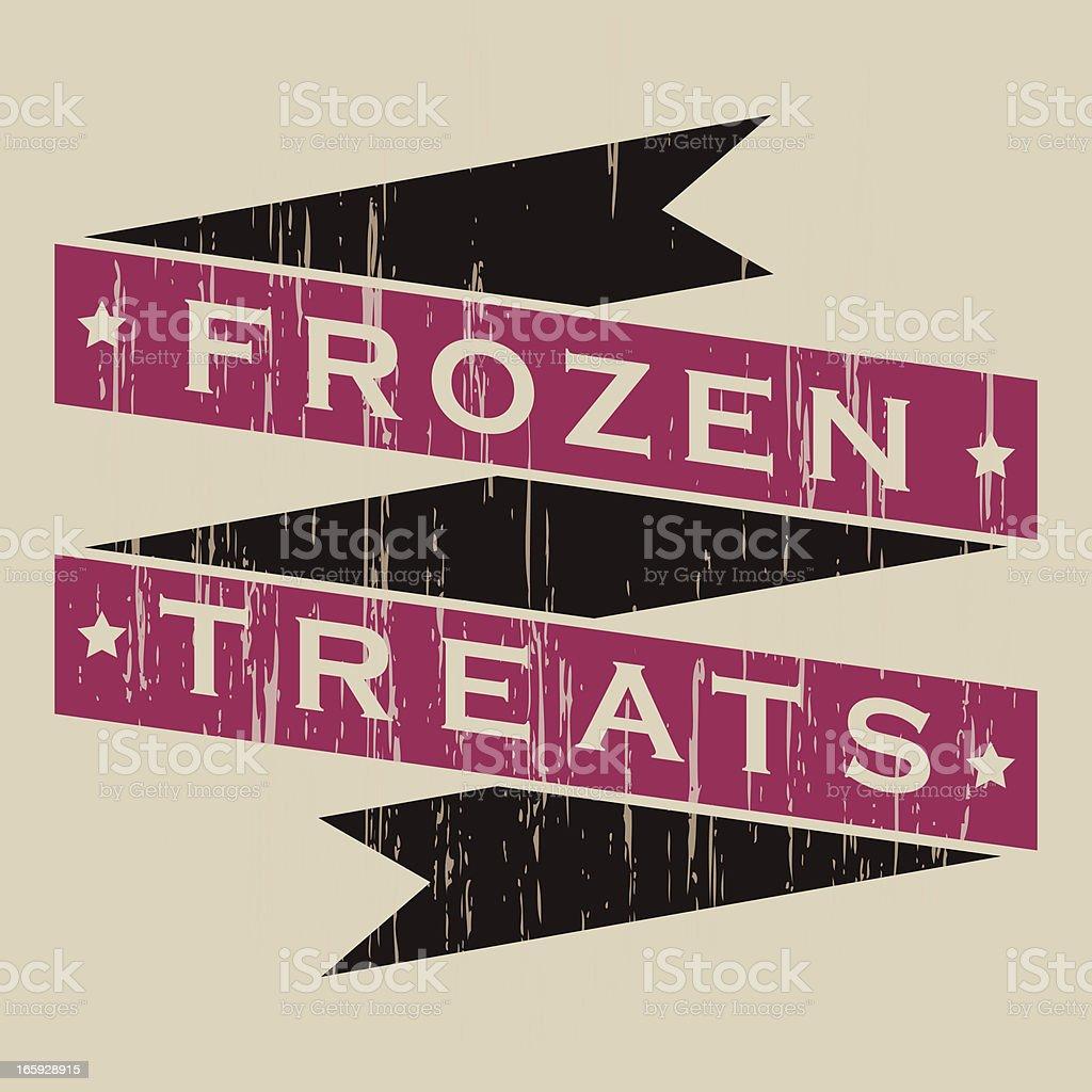 Vintage Frozen Treats Banner royalty-free stock vector art