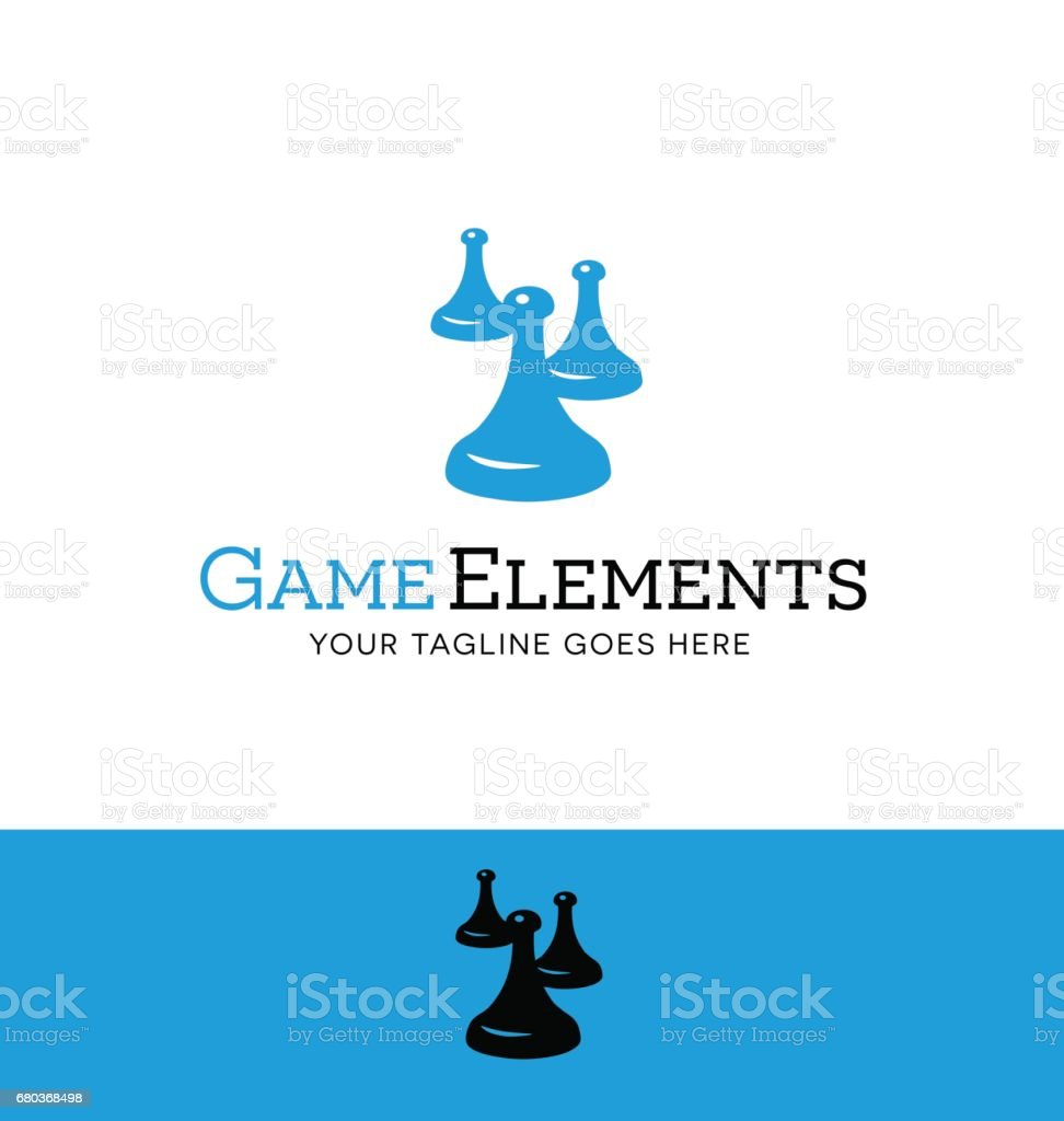 vintage game tokens from board games. vector illustration. vector art illustration