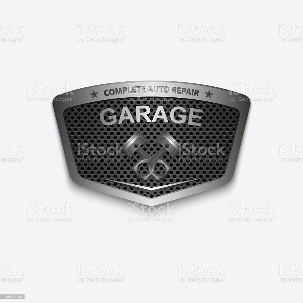 Vintage garage retro label design.vector vector art illustration