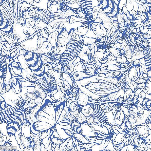 Vintage garden spring seamless pattern vector id517993146?b=1&k=6&m=517993146&s=612x612&h=uftvrypbrx1ozsk0cxjieoypmbzatblktgxt4vwt km=