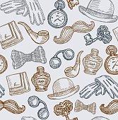 Vintage Gentleman Accessories Pattern