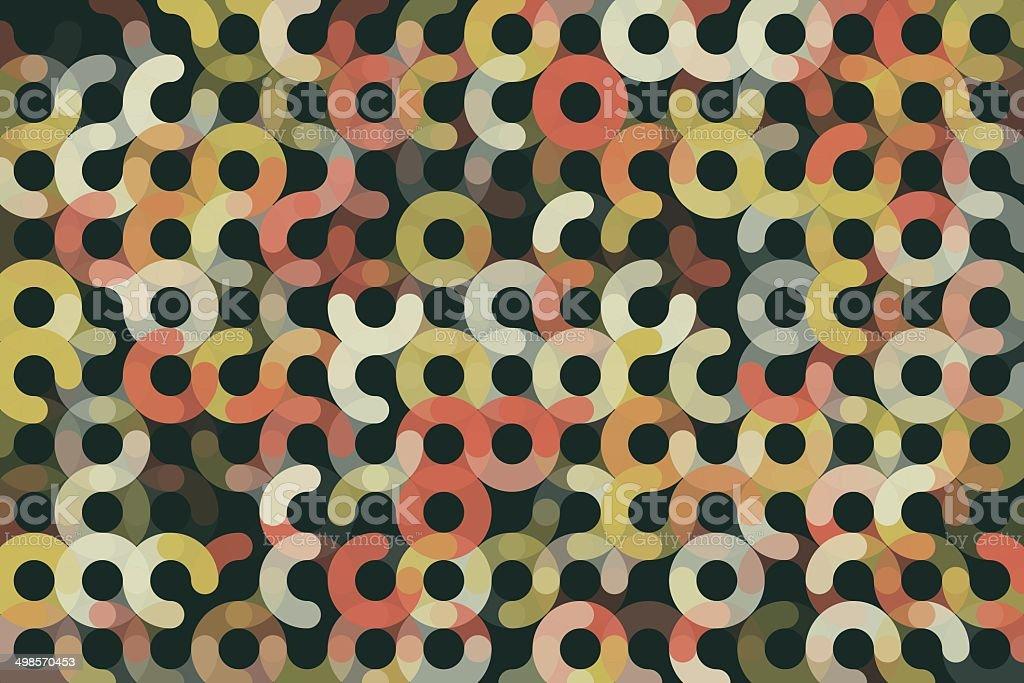 Vintage Geometric Circle Horizontal Pattern royalty-free stock vector art