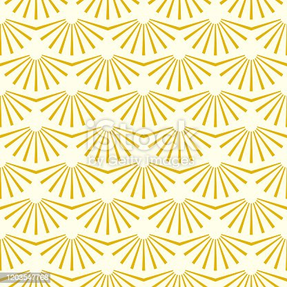 istock Vintage geometric gold simple gatsby  texture background, 20s and 30s trendy pattern. Art deco seamless vector pattern 1203547768