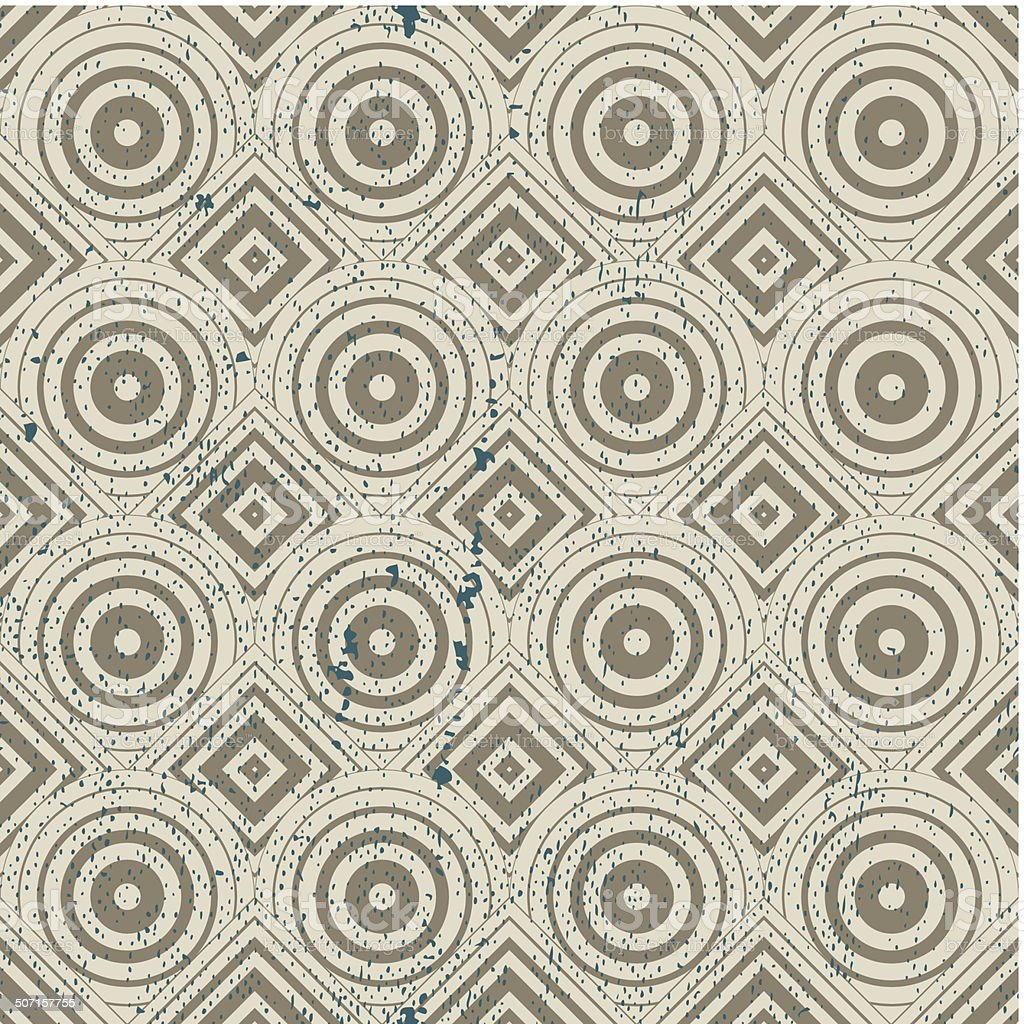 Vintage geometric seamless pattern, old vector background vector art illustration