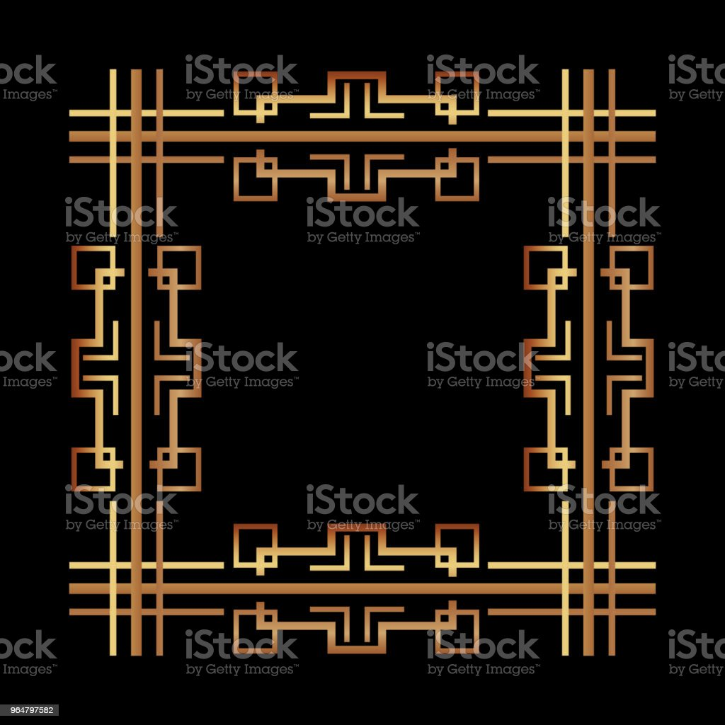 vintage geometric shape art deco retro frame royalty-free vintage geometric shape art deco retro frame stock vector art & more images of abstract