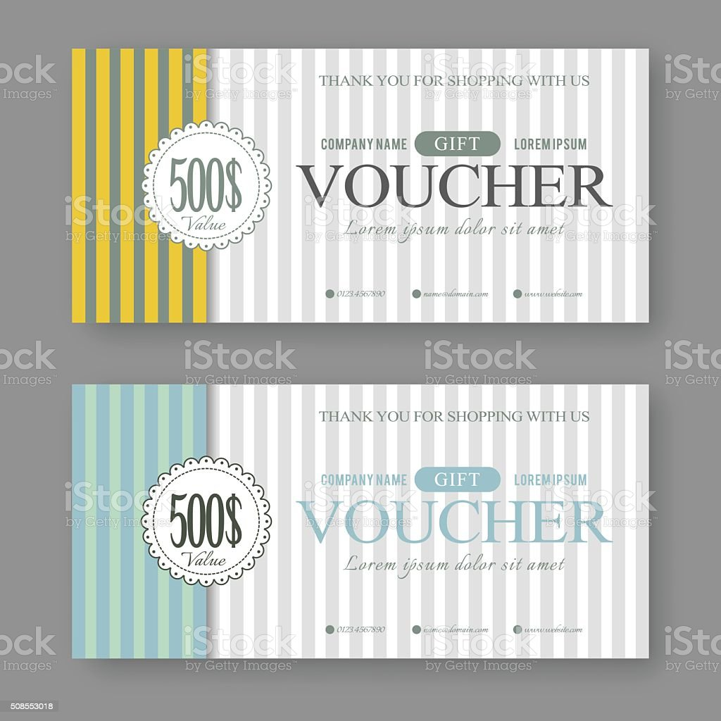 Vintage Gift Voucher Template Stock Vector Art 508553018 Istock