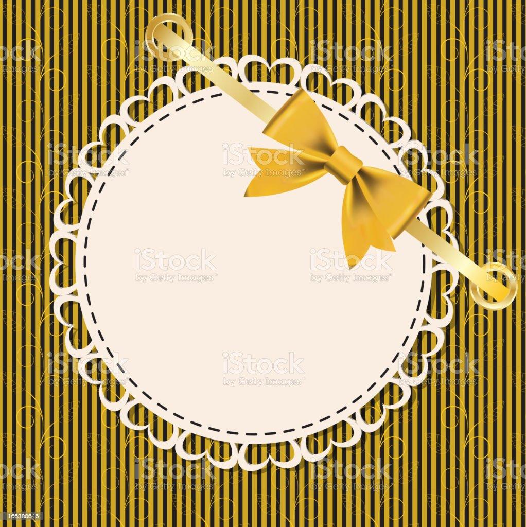 Vintage gold frame on floral  background. Vector illustration. royalty-free stock vector art