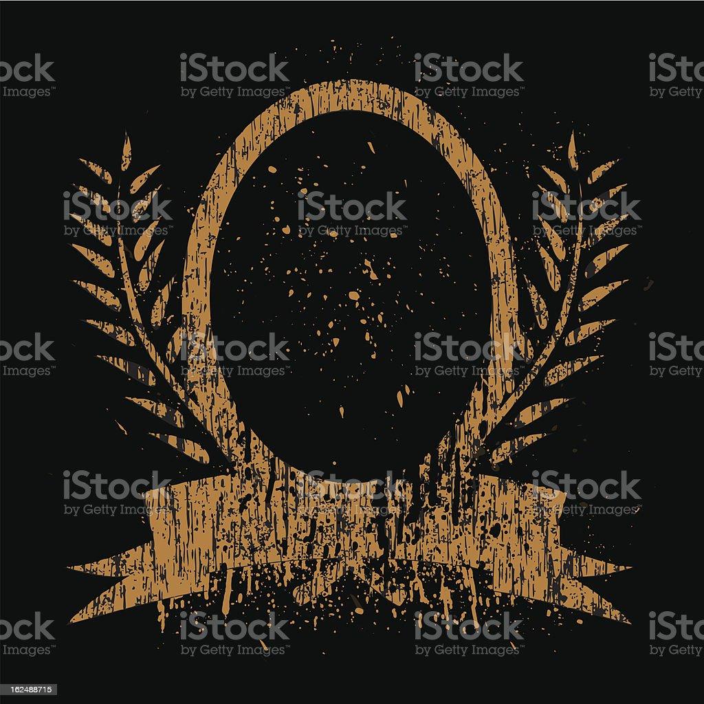 Vintage Gold Frame royalty-free stock vector art