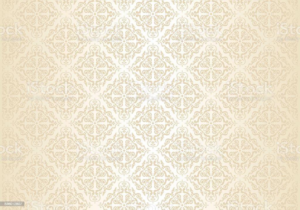 Vintage Gold Wedding Pattern Background Stock Illustration