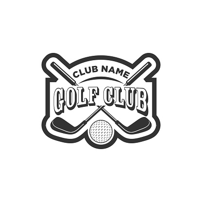 Vintage golf club logos, labels and emblems