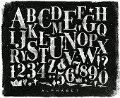 istock Vintage gothic alphabet chalk 638835774