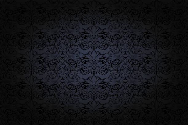 vintage gotyckie tło w kolorze ciemnoszarym i czarnym - ciemny stock illustrations