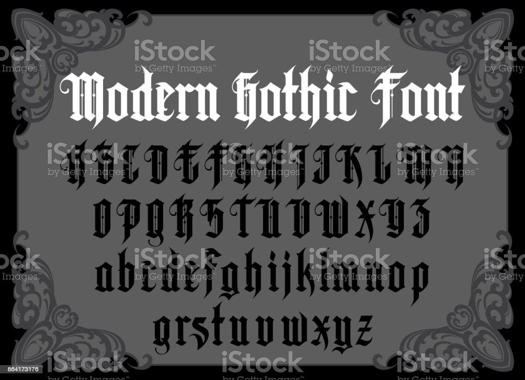 Vintage gothic font vector art illustration