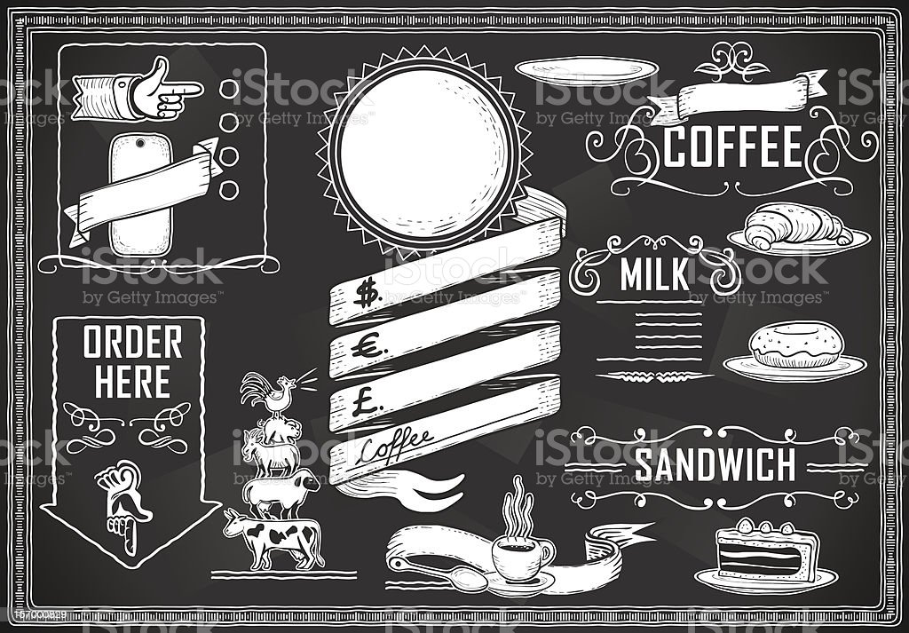 vintage graphic element for bar menu royalty-free stock vector art
