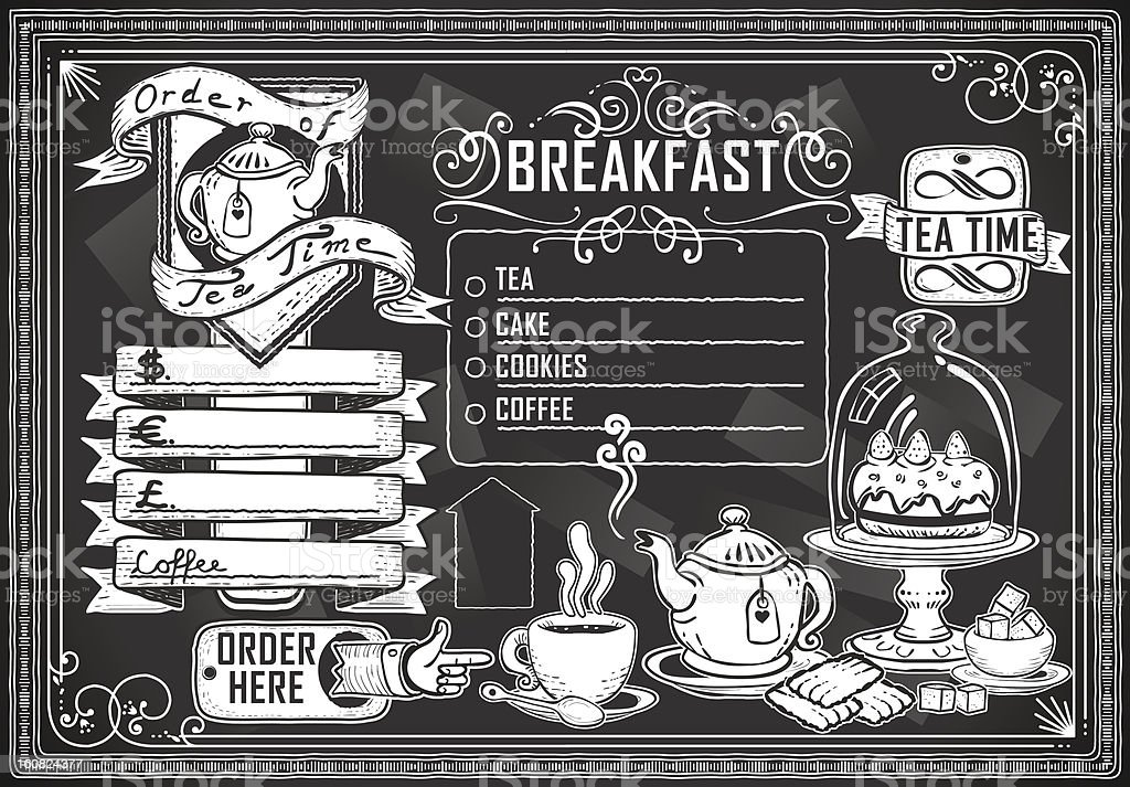 Vintage graphic elements for bar menu in black royalty-free vintage graphic elements for bar menu in black stock vector art & more images of afternoon tea