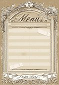 Vintage Graphic Page for Restaurant Menu