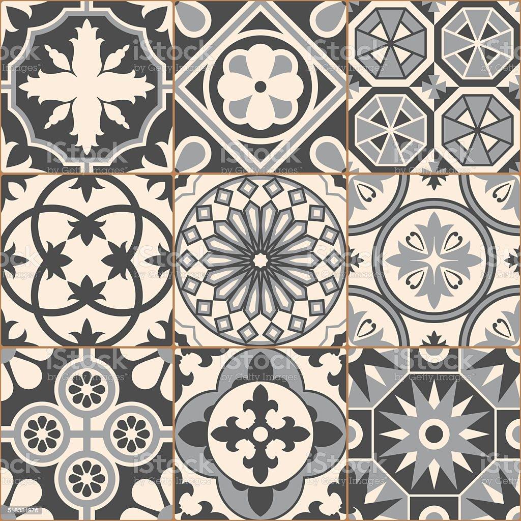 Populaire Gris Vintage Motif Uniforme Mosaïque Carrelage En Céramique Stock  KV62