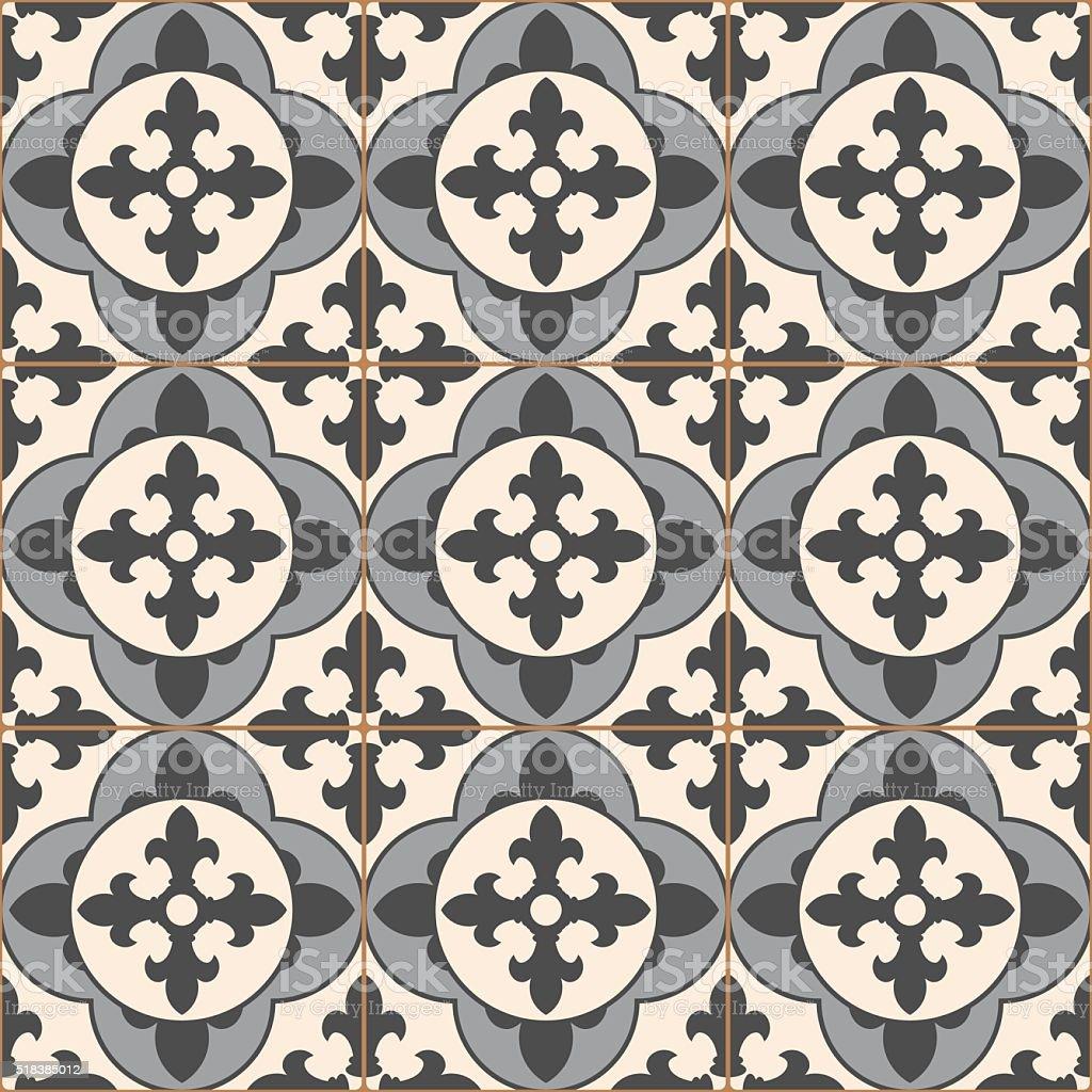 Gris vintage motif uniforme mosa que carrelage en for Carrelage ceramique