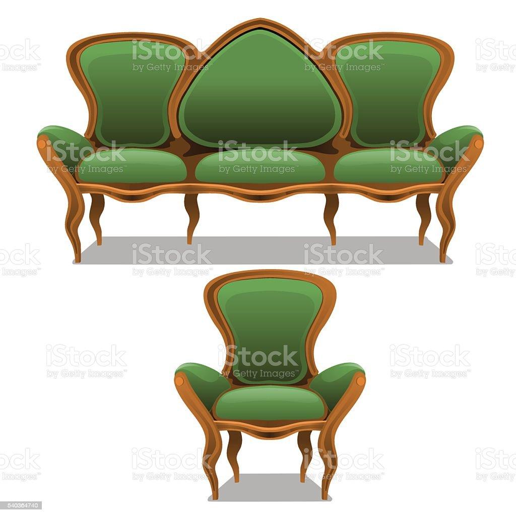 Sessel Klassisch klassischgrün möbeln einem sessel und sofa stock vektor und mehr
