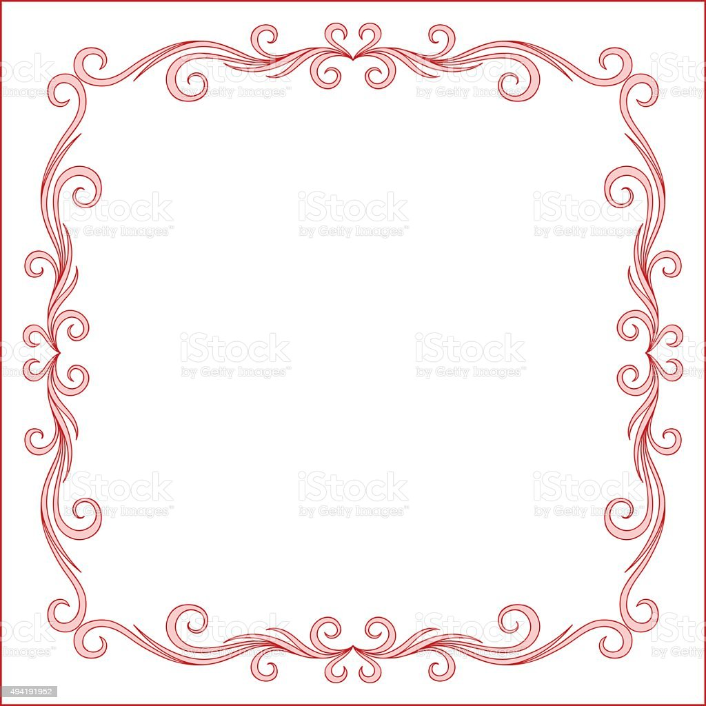 Vintage Greeting Card Frame Design Stock Vector Art More Images Of