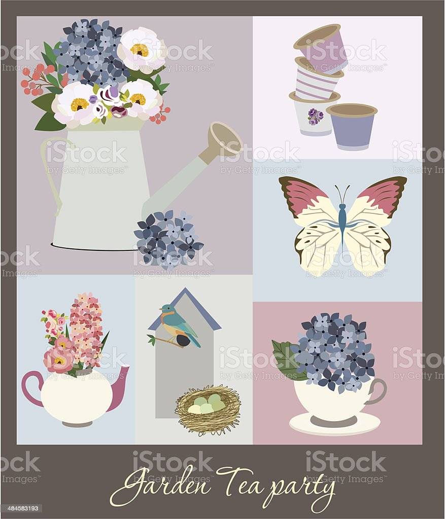 Vintage greeting card royalty-free stock vector art